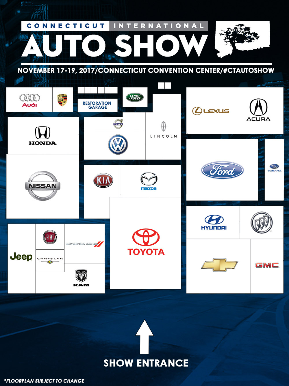 2017 Connecticut Auto Show Floor